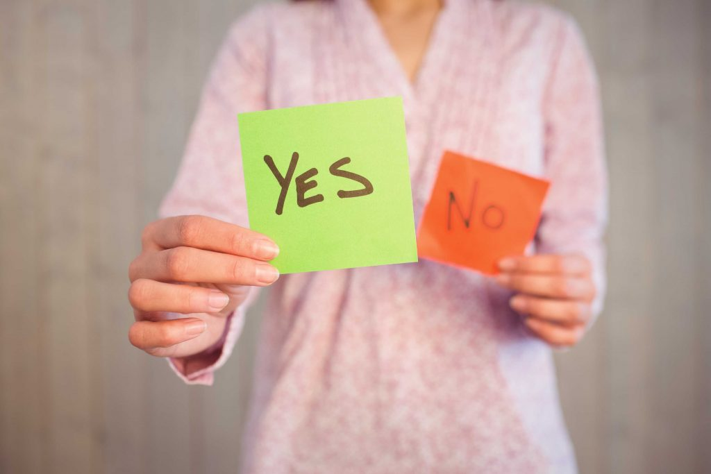 Learn when to say YES