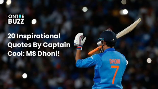 Inspirational quotes by MS Dhoni