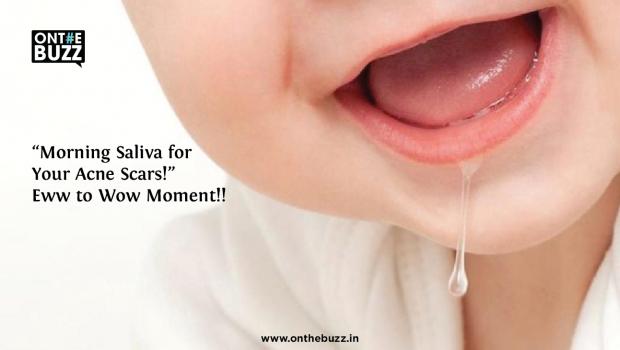 morning saliva for acne